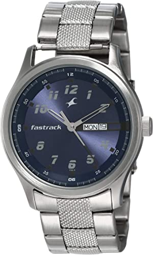 Fastrack Essentials Analog Blue Dial Men s Watch NL3001SM02
