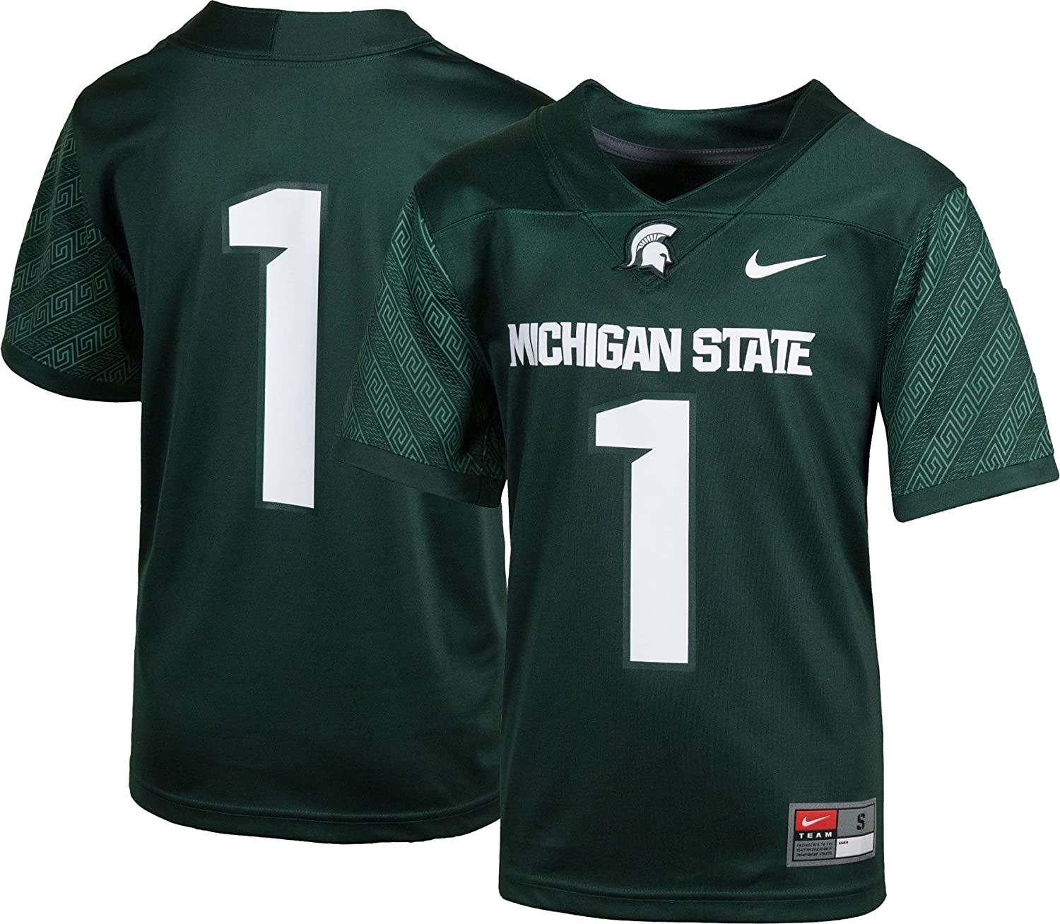 Nike Michigan State Spartans #1 Football Jersey Youth