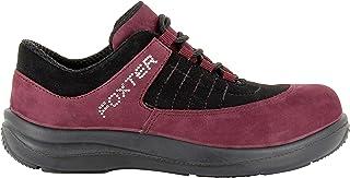 Foxter - Chaussures de sécurité | Femmes | Basses | Baskets de Travail | Légères et Respirantes | sans métal | Cuir Rose |...