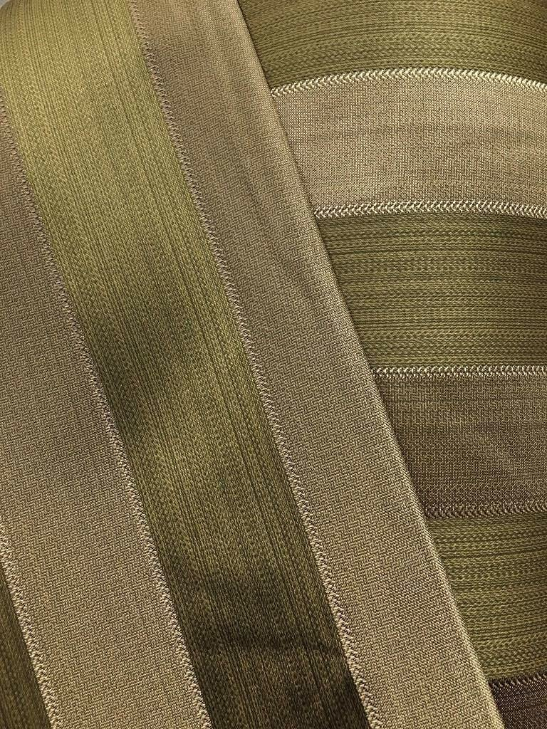 Fabric lowest price by The Yard - Olive Memphis Mall Striped Green Upholstery Brocade Gold