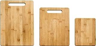 Farberware 5190597 3-Piece Bamboo Cutting Board Set, Assorted Sizes