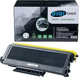 DIGITONER Compatible TN580 TN650 TN550 TN620 Toner Cartridge – TN-580 TN-650 TN-550 TN-620 High Yield Toner Cartridge Replacement for Brother Laser Printer – Black [1 Pack]