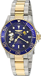 Invicta Women's Character Collection Automatic-self-Wind Watch with Stainless-Steel Strap, Two Tone, 18 (Model: 24794