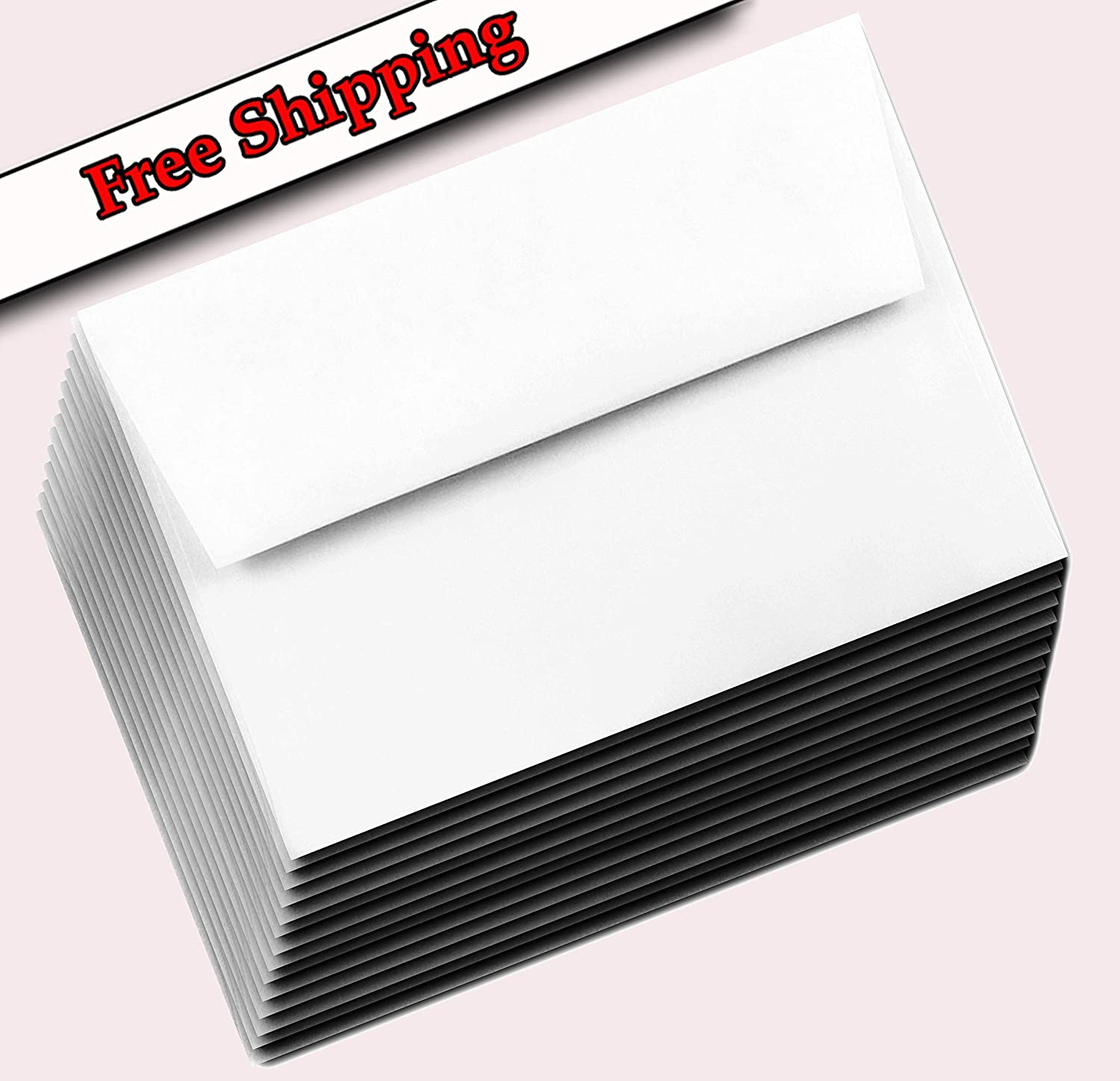 Bright White A7 Square Flap Boxed New mail order 70lb x 5-1 f 7-1 Envelopes 4 All stores are sold