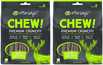product image for ETTA SAYS! Crunchy Rawhide Chews for Dogs Pack of 2 – Made in The USA, Grain-Free, Good for Teeth, Easy to Digest (Elk)