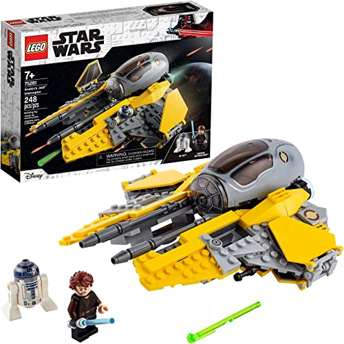 LEGO Star Wars Anakin's Jedi Interceptor 75281 Building Toy for Kids Anakin Skywalker Set to Role-Play Star Wars: Revenge of The Sith and Star Wars: The Clone Wars Action (248 Pieces)