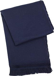 Boss Hugo Boss Men's Navy Blue Wool Scarf