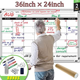 Jumbo Large Dry Erase Wall Calendar - 24