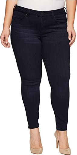 Plus Size Abby Skinny Soft Fabric with Superb Stretch in Stone Wash