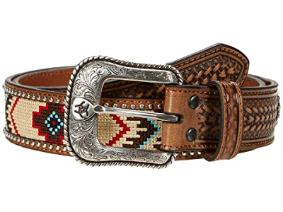 Ariat Aztec Embroidery Belt (Natural/Multi) Men