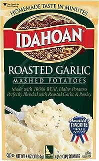 Idahoan Roasted Garlic Mashed Potatoes, Made with Gluten-Free 100% Real Idaho Potatoes, 12 (4 Servings) Pouches