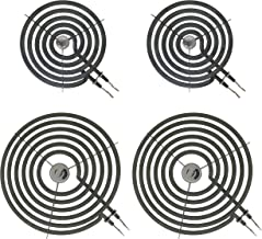 KITCHEN BASICS 101 WB30M1 WB30M2 Replacement Range Stove Top Surface Element Burner Kit for GE and Hotpoint, 4 Pack