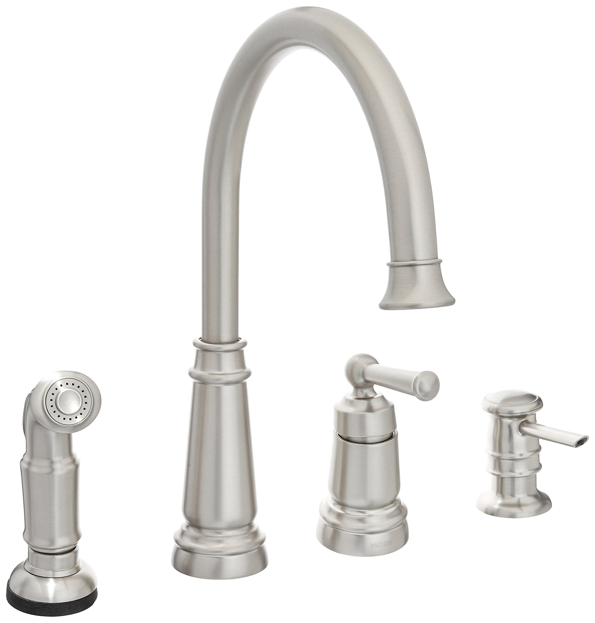 Moen 87042srs One Handle High Arc Kitchen Faucet Spot Resist Stainless Amazon Com