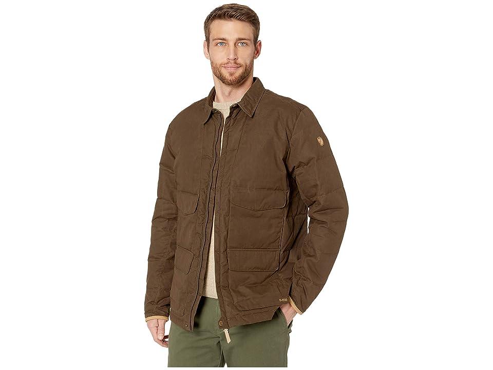 Fjallraven Sormland Down Shirt Jacket (Dark Olive) Men