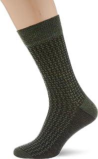 FALKE Socken Tailored Tweed Schurwolle Baumwolle Herren grün viele weitere Farben verstärkte Herrensocken mit Muster atmungsaktiv Tweedoptik 1 Paar