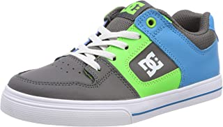 DC Boy's Pure Elastic B Shoe Leather Sneakers