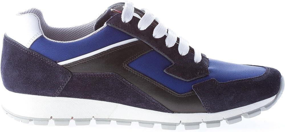 Prada, sneakers per uomo, in pelle scamosciata e nylon,numero 40,5 eu 4E2830OZ6F0216
