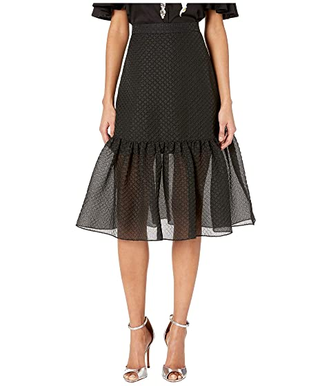 Boutique Moschino Fit & Flare Allover Textured Skirt