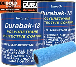 Durabak Marine Liner Kit - DIY Non-Slip Deck Floor Coating, Aluminum, Wood, Fiberglass Boat Paint, 1 Coat Textured, 1 Coat Smooth, Used by US Navy, one Part, Easy Application