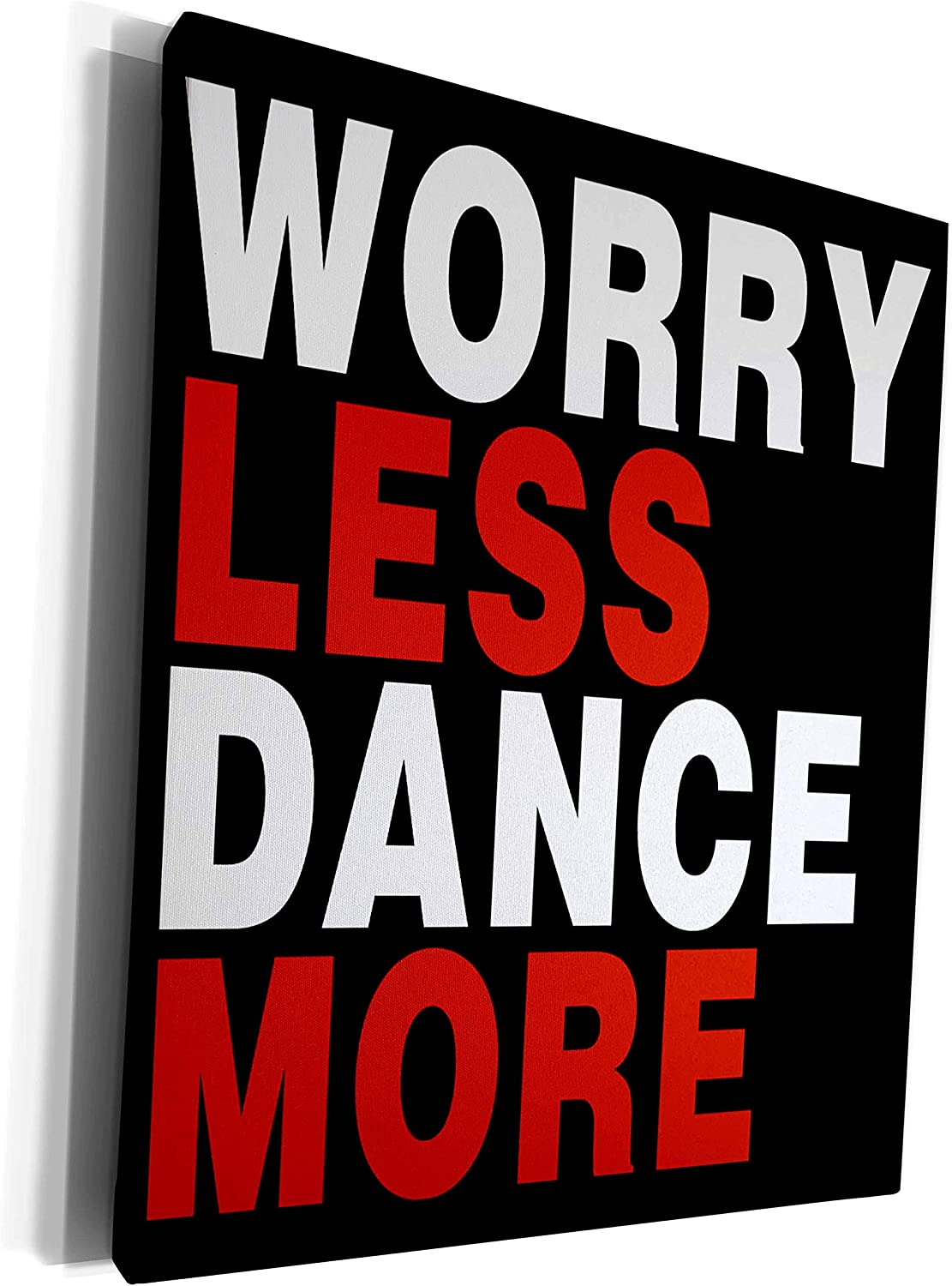 3dRose Anne Marie Baugh - Quotes Ranking TOP6 Worry Industry No. 1 Sayings and Dance Less