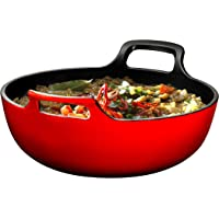 Bruntmor Nonstick 3 qt. Enameled Cast Iron Balti Dish