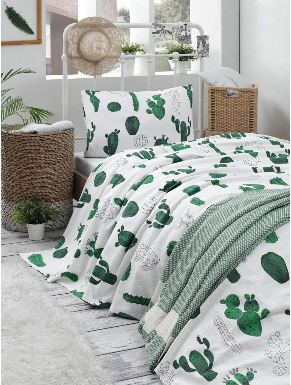 OZINCI Cactus Bedding Bedspread 10 Set free shipping Pique Coverlet Opening large release sale