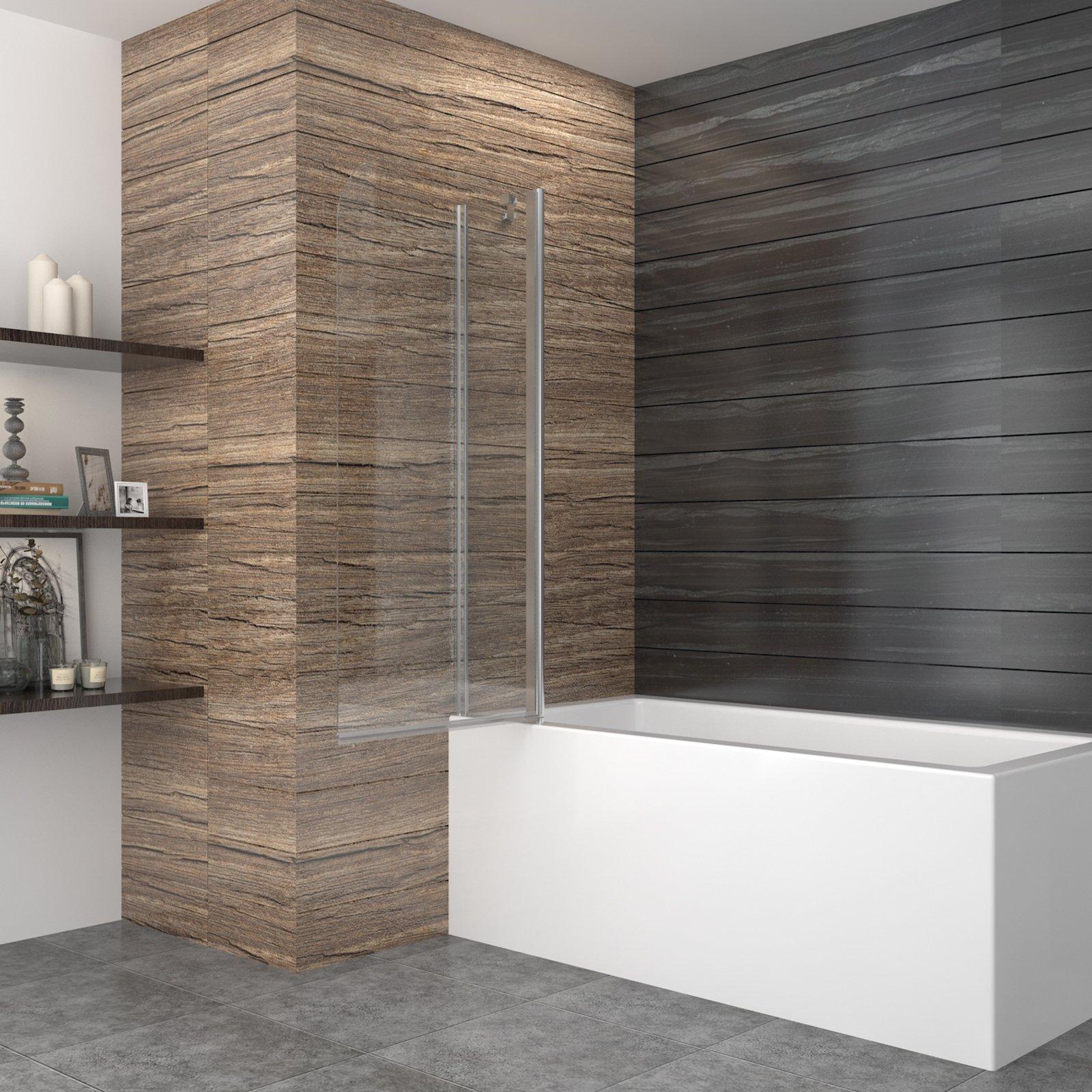 99 * 140 cm – Mampara Mampara de bañera ducha pared bañera ...