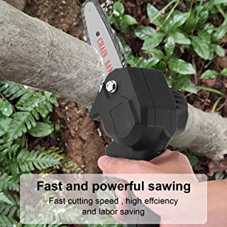 diapaasud Mini Chainsaw Cordless 24V 550W, 4 Inch Electric Power Chain Saw, One-Hand Operated Portable Wood Saw for Farmin...