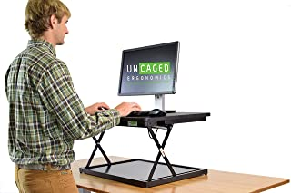 CHANGEdesk MINI Small Adjustable Height Standing Desk Converter for Laptop Macbook Single Monitor Desktop Computer portabl...