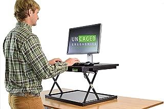 changedesk Mini Affordable高さ調節可能ラップトップ/デスクトップStandingデスク変換。コンパクト人間工学Sit to Standデスクトップコンピュータライザーコンバータ