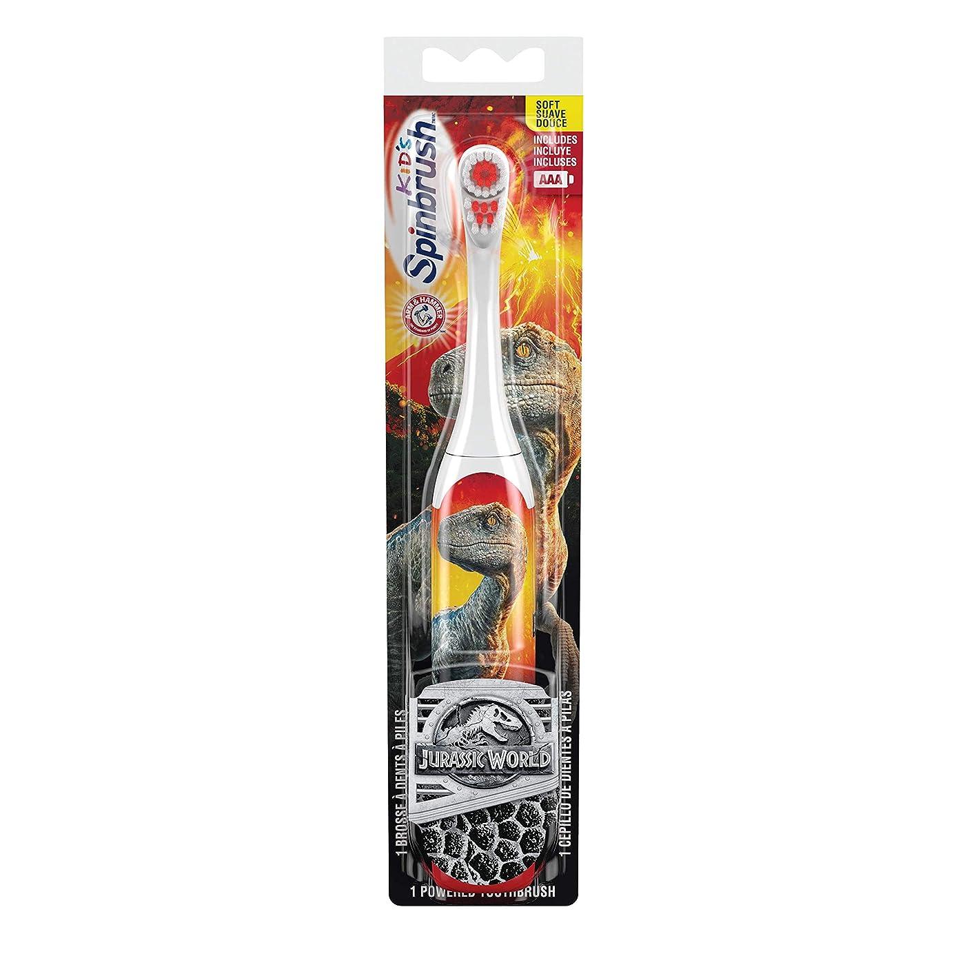 家庭デンマークまあ海外直送品 お子様用ジェラシックワールド電動歯ブラシ 〈ソフト〉 ARM & HAMMER? Spinbrush? Jurrassic World 1 Powerd Thoothblash Soft
