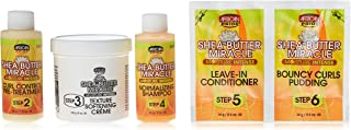 African Pride Shea Butter Miracle Texture Softening Elongating System Kit, 1count