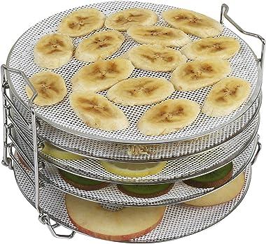 Kispog - Juego de 5 hojas de silicona antiadherentes para deshidratador Ninja Instant Pot Deshidratador, redondo de 7.8 pulga