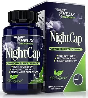 Natural Sleep Aid for Adults with Valerian Root Extract Melatonin GABA & Lemon Balm - Best Herbal Sleeping Pills Extra Strength - Deep Sleep Formula - Non Habit Forming Supplement - 60 Vegan Capsules