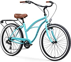 sixthreezero Around the Block Women's Cruiser Bike with Rear Rack (24-Inch, 26-Inch, and eBike)