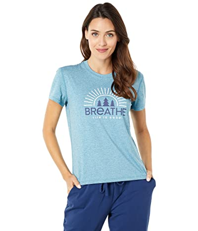 Life is Good Breathe Forest Tree Active Tee