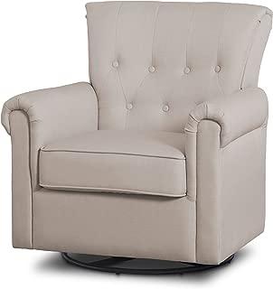 Delta Children Harper Glider Swivel Rocker Chair, Flax