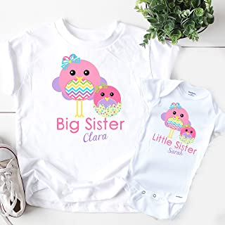 Personalized Big Sister Little Sister Matching Easter Shirts