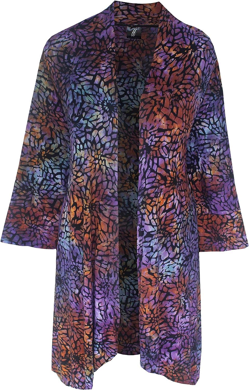 Women's Austin Mall Plus Size Kimono Cardigan Knit Han Light Jersey Al sold out. Weight