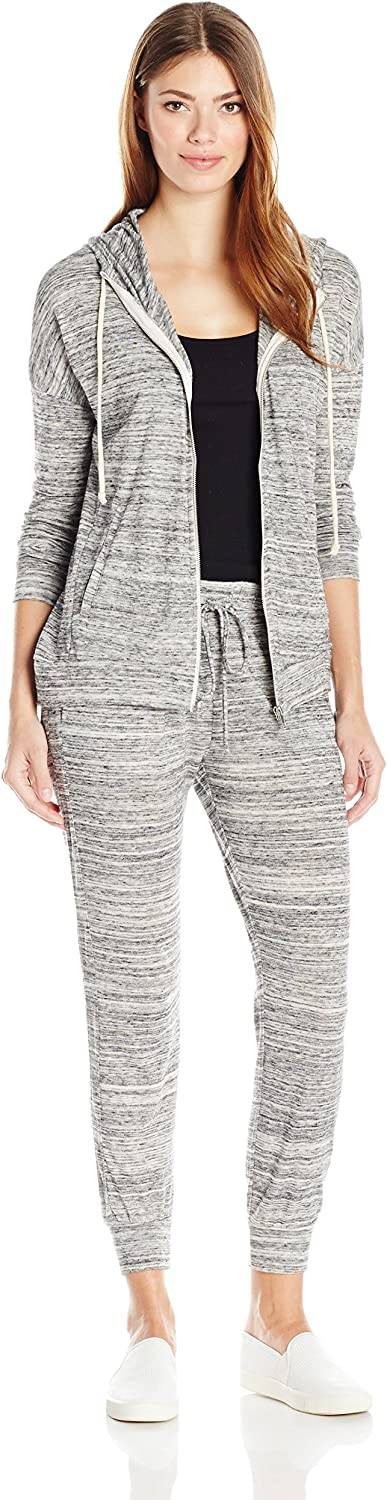 Alternative Womens Cool Down EcoJersey Cool Down Hoodie + Jersey Jogger Bundle Jumpsuit