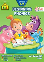 School Zone - Beginning Phonics Workbook - Ages 6 to 8, 1st Grade, 2nd Grade, Vowels, Spelling, Letter Combinations, Picture Words, and More (School Zone I Know It!® Workbook Series)