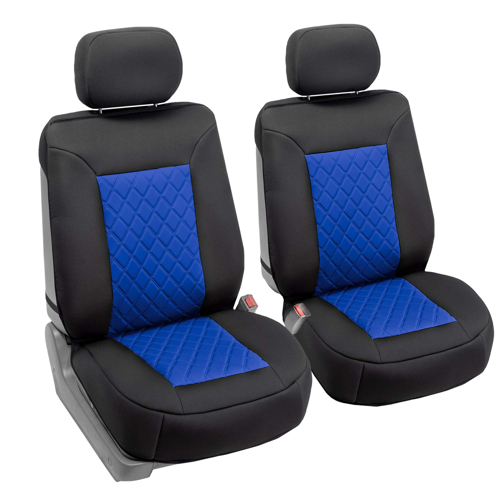 Blue Front Set with Gift FH Group FB088102 Neosupreme Deluxe Quality Car Seat Cushions Universal Fit for Cars Trucks and SUVs