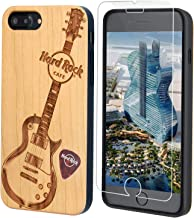 "Hard Rock Cafe Guitar Wood Phone Case, iPhone by iProductsUS Includes Glass Screen Protector, Shockproof Protective Case, Wireless 4.7"" - For iPhone 8, 7, 6, 6S Natural ipu-8201-ip-cherry+9H"