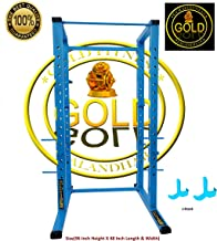 Gold Fitness Power Squat Rack 4X2 (96 Inch Height X 48 Inch Breath )