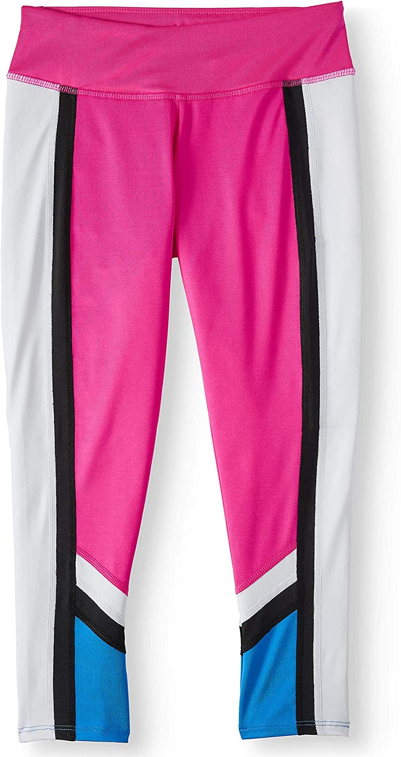 Avia Toddler Girls Colorblock Active Performance Leggings (Electric Pink, X-Small XS, 4-5X)