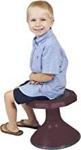 """ECR4Kids ACE Active Core Engagement Wobble Stool for Kids, Flexible Classroom and Home Seating, 12"""", Burgundy"""