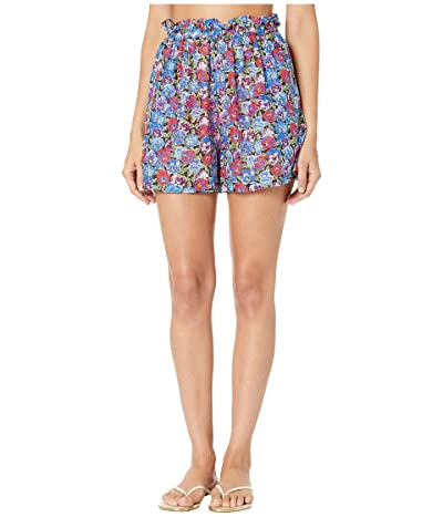 Stella McCartney Pansy Print Shorts (Multicolor) Women