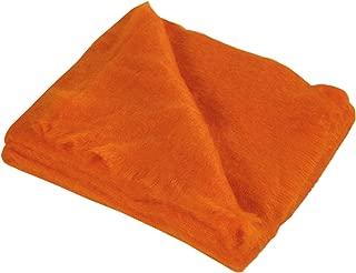 Brun De Vian-Tiran 100-Percent Mohair Throw, 55 by 71-Inch, Mandarin Orange