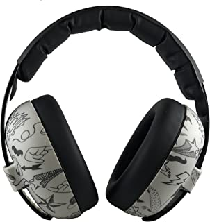 BANZ Earmuffs Infant Hearing Protection – Ages 0-2 Years – The Best Earmuffs for Babies & Toddlers – Industry Leading Noise Reduction Rating – Block Noise (Grey Doodle)