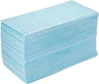 ストリックスデザイン カウンタークロス 100枚 ブルー 約30×61cm 使い捨て 不織布 ふきん テーブルダスター 繰り返し使える 業務用 J-116